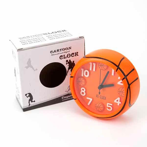 バスケットボール型コンパクト目覚まし時計