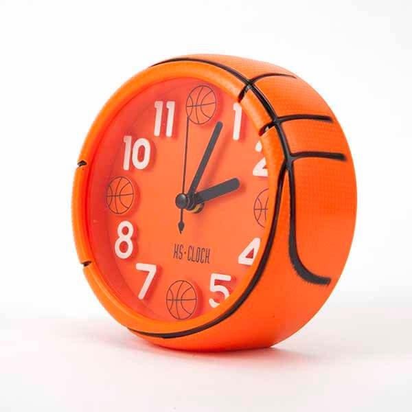 バスケットボール型コンパクト目覚まし時計【画像3】