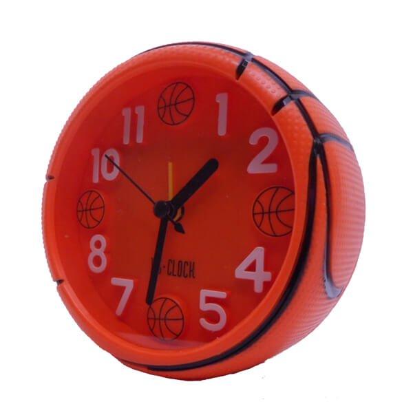 バスケットボール型コンパクト目覚まし時計【画像5】