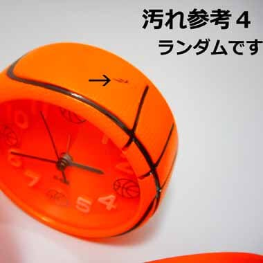 バスケットボール型 コンパクト目覚まし時計【画像10】