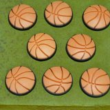 バスケットボール型 画鋲 8個セット(画鋲刺し板付き)