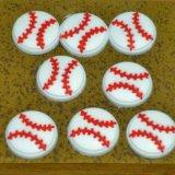 野球ボール  野球ボール型 画鋲 8個セット(画鋲刺し板付き)