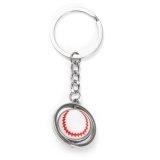 メタリック ボールを回せる野球キーホルダー