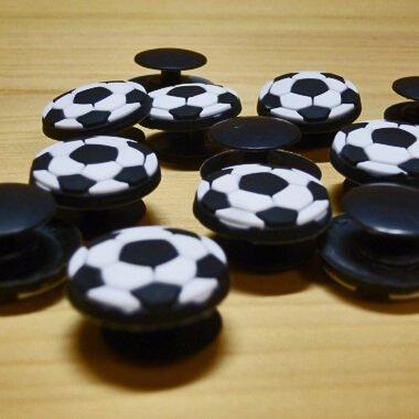 セットがお得! サンダルアクセサリー クロックス ジビッツ サッカーボール型  単価 160円〜【画像3】