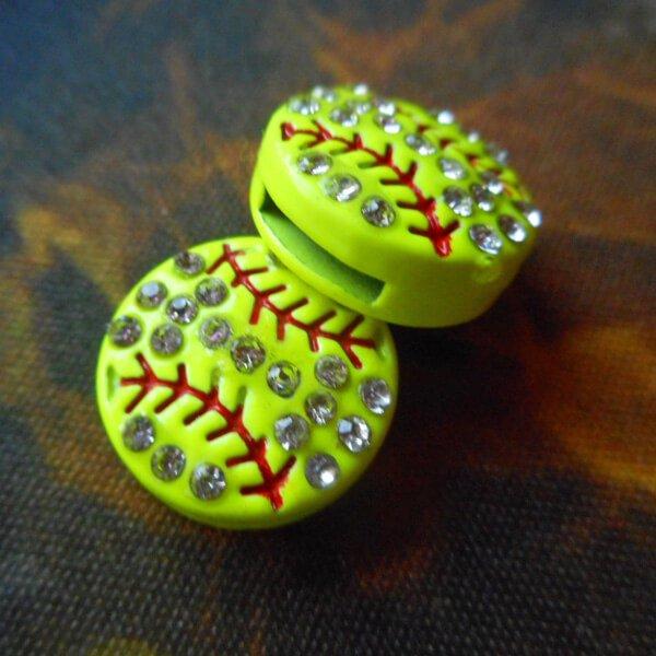 キラキラDIYアクセサリー 野球ボール 1個【画像2】