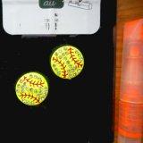 キラキラDIYアクセサリー 野球ボール(黄色)1個