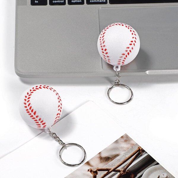 セットがお得! やわらかキーホルダー 野球ボール(大) 単価76円〜