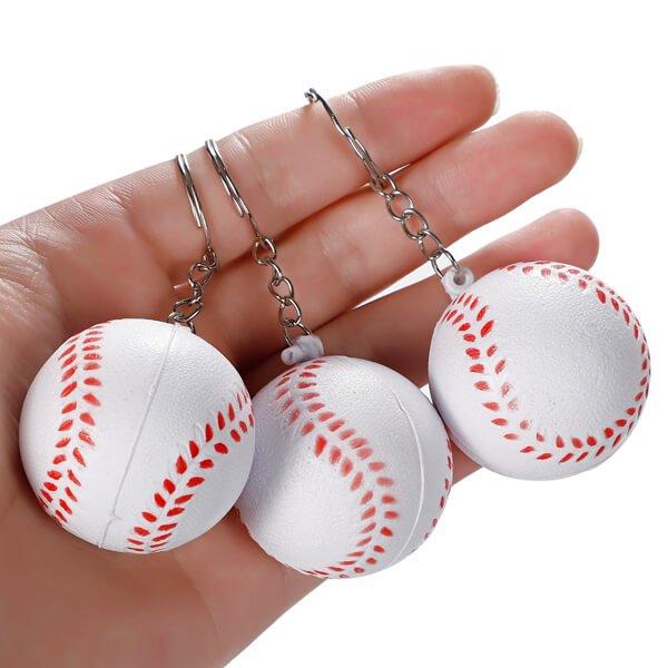 セットがお得! やわらかキーホルダー 野球ボール(大) 単価76円〜【画像2】