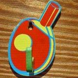 卓球グッズ・雑貨 卓球ラケット型の壁掛けフック