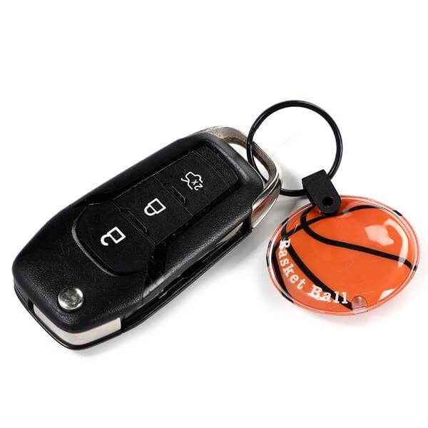 バスケットボール型のフラットライトキーホルダー 単価178円〜【画像2】