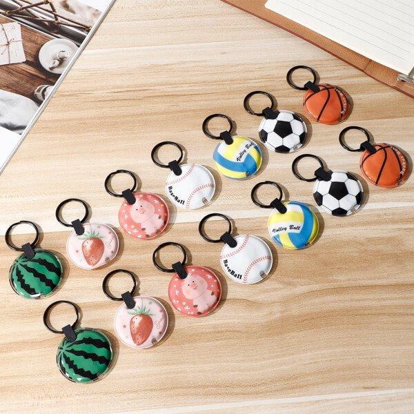 バスケットボール型のフラットライトキーホルダー 単価178円〜【画像4】