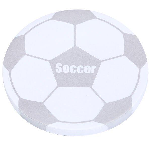 サッカーボール型オリジナル付箋メモ(白・灰色)【画像2】