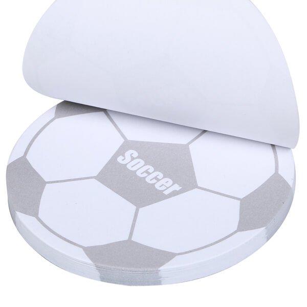 サッカーボール型オリジナル付箋メモ(白・灰色)【画像3】
