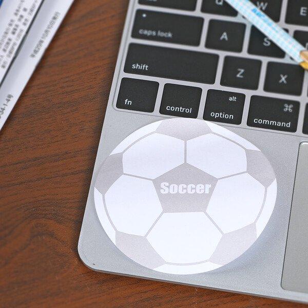 サッカーボール型オリジナル付箋メモ(白・灰色)【画像5】