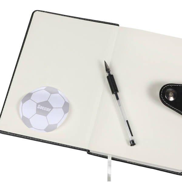 サッカーボール型オリジナル付箋メモ(白・灰色)【画像6】
