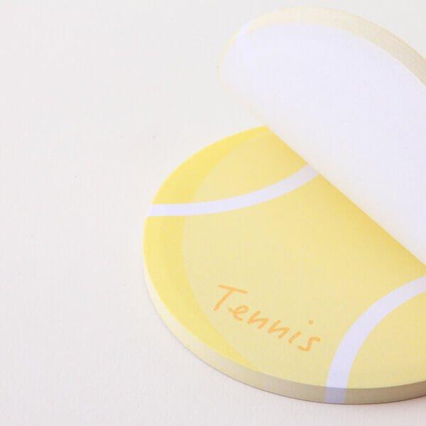 セットでお得!  可愛いテニスボール型のオリジナルカラー付箋メモ  約50枚  単価224円〜