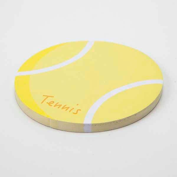セットでお得!  可愛いテニスボール型のオリジナルカラー付箋メモ  約50枚  単価224円〜【画像3】