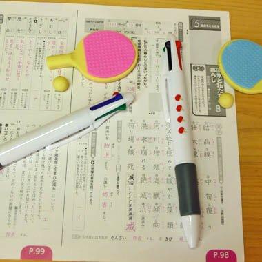 卓球ラケット柄入り かわいいオリジナル4色ボールペン 1本【画像3】