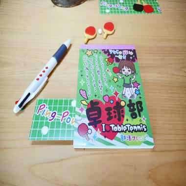 卓球ラケット柄入り かわいいオリジナル4色ボールペン 1本【画像6】