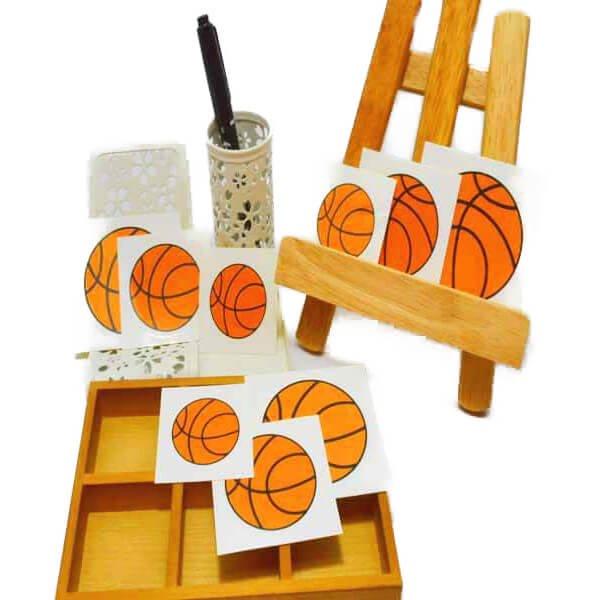 バスケットボール型の可愛いシール