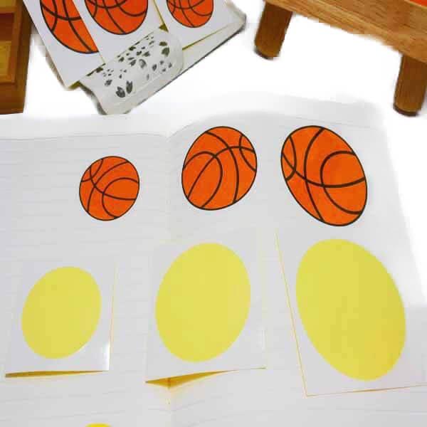 バスケットボール型の可愛いシール【画像3】