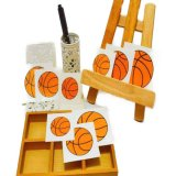 バスケットボールグッズ セット購入がお得! バスケットボール型の可愛いシール 単価 19円〜
