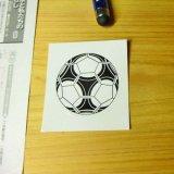 お手頃価格サッカーボール型の可愛いシールボール直径4センチ
