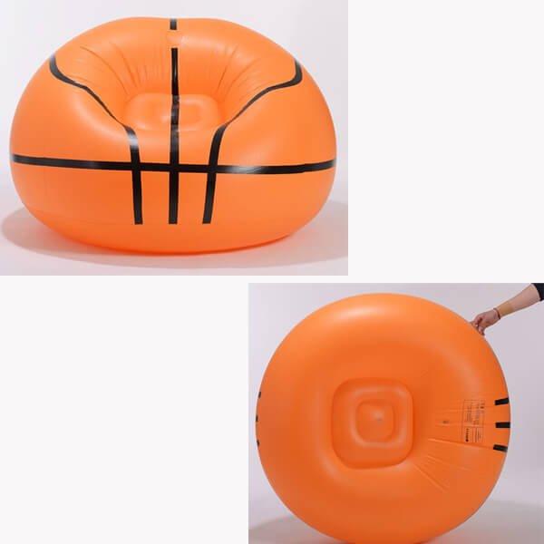 バスケットボール型の空気イス【画像3】