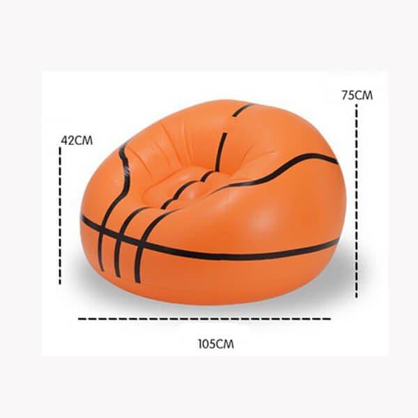 インテリアバスケットボール型の空気イス【画像4】