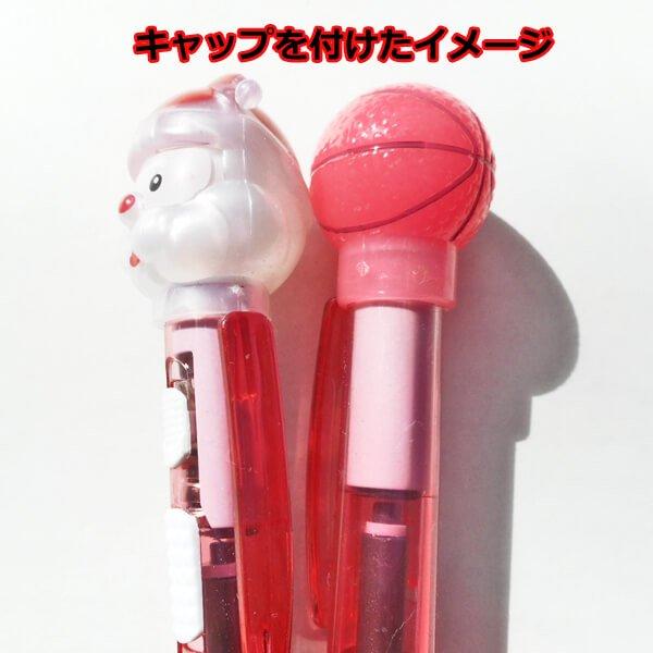 クリスマスバージョン 可愛い柄のライトボールペン バスケットボール(クリスマスキャップ付き) 1本【画像8】