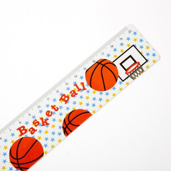 セット購入がお得! バスケットボール柄 オリジナルものさし(定規) 単価88円〜【画像2】