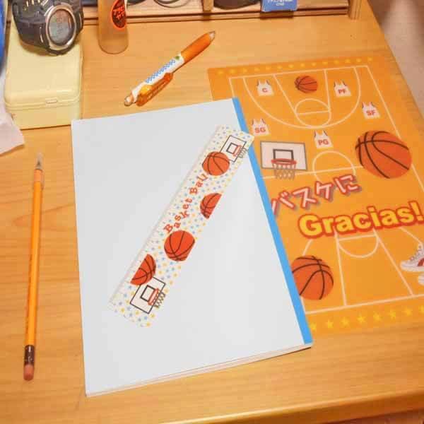 セット購入がお得! バスケットボール柄 オリジナルものさし(定規) 単価88円〜【画像5】