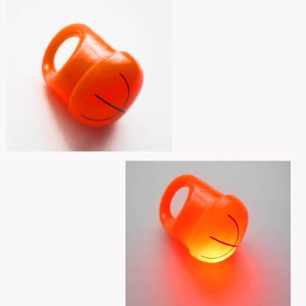 フラッシュバスケットボールリング(キッズ用の光る指輪) オレンジ1個