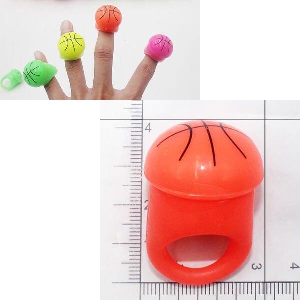 フラッシュバスケットボールリング(キッズ用の光る指輪) オレンジ1個【画像2】