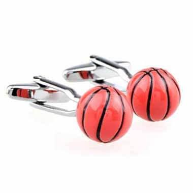 カフスボタン(ペア) バスケットボール(丸型)