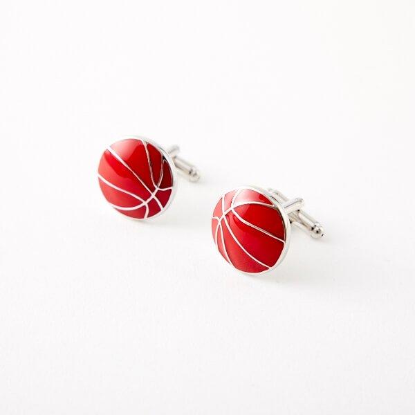 カフスボタン(ペア) バスケットボール(表面型)