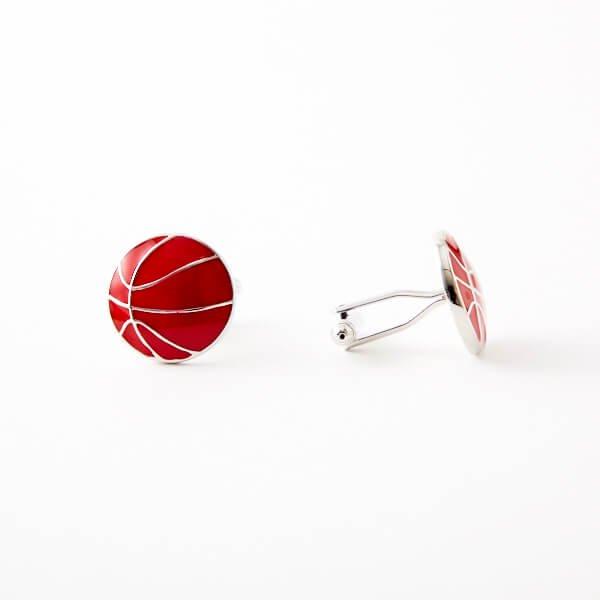 カフスボタン(ペア) バスケットボール(表面型)【画像3】