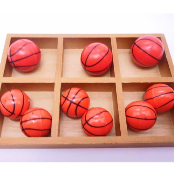 セットがお得 バスケットボール型(濃いオレンジ) スーパーボール 単価39円〜【画像2】