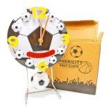 サッカー オススメ商品  サッカーボール型 フライングクロック(振り子時計)