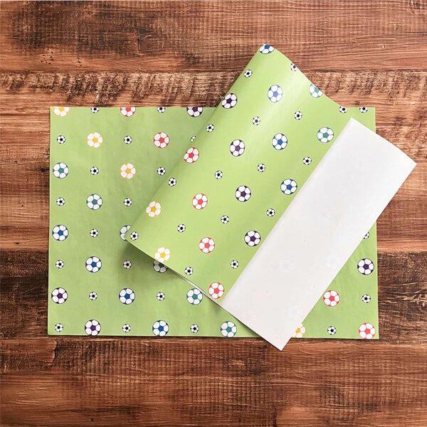 可愛いオリジナル包装紙 サッカーボール柄 10枚セット