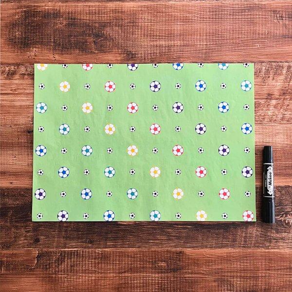 可愛いオリジナル包装紙 サッカーボール柄 10枚セット【画像2】
