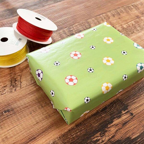 可愛いオリジナル包装紙 サッカーボール柄 10枚セット【画像4】