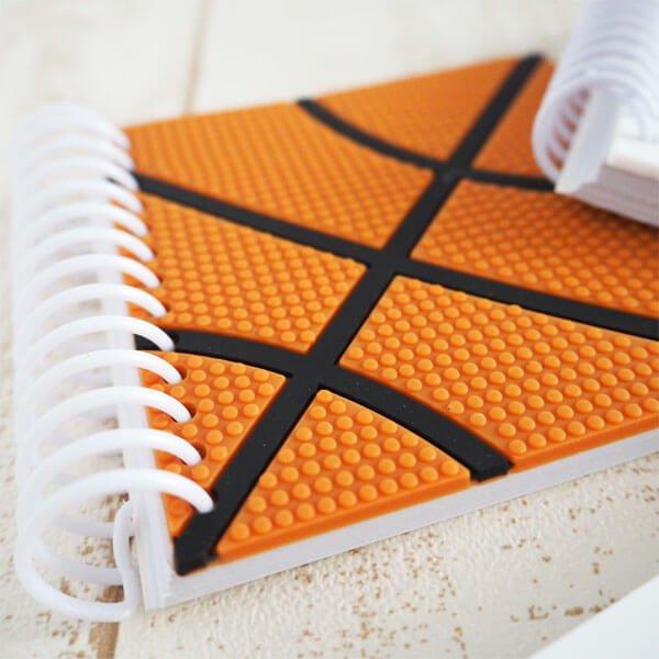 バスケットボール柄リング付きミニメモ帳(ボール部分が可愛いゴム)【画像4】