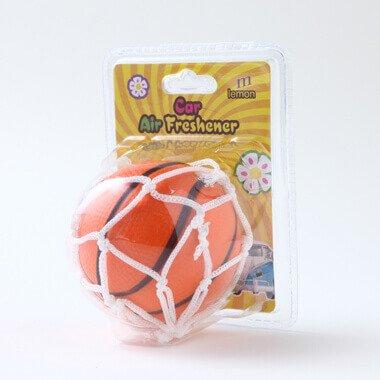 おもしろ消臭ボール バスケットボール型 (吸盤ネット付き)