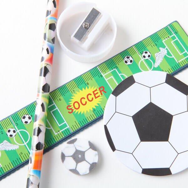 セットがお得 サッカーボールがたくさん 可愛いステーショナリーセット 単価 248円〜
