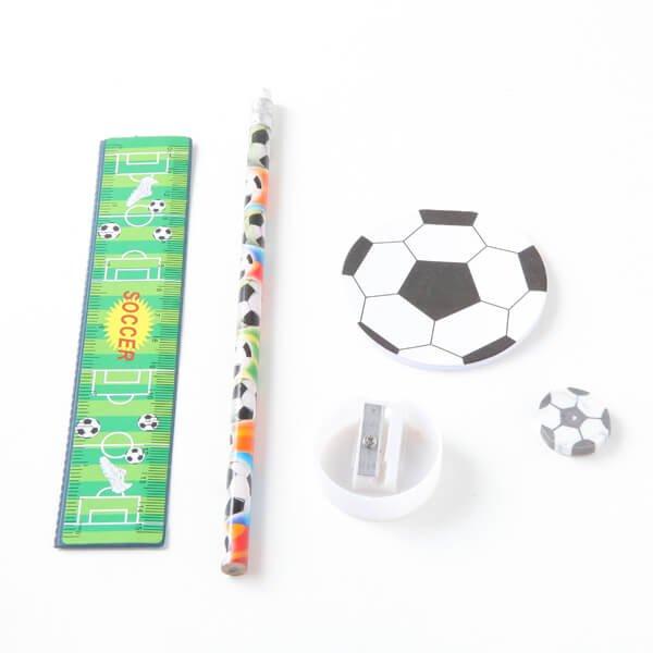 セットがお得 サッカーボールがたくさん 可愛いステーショナリーセット 単価 248円〜【画像3】