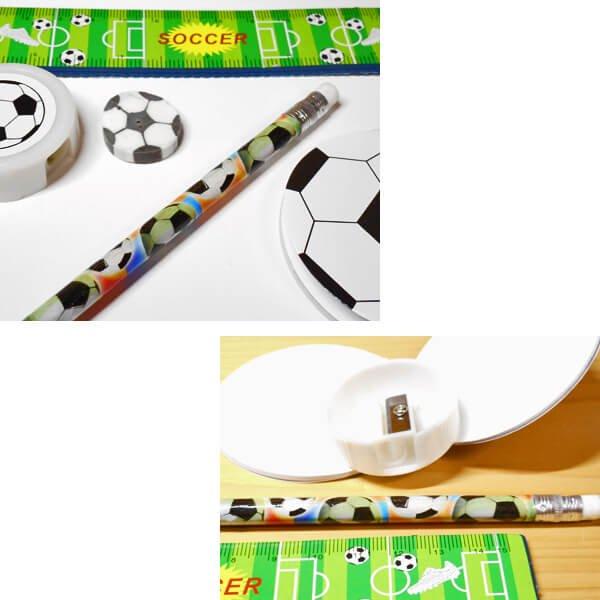 セットがお得 サッカーボールがたくさん 可愛いステーショナリーセット 単価 248円〜【画像4】