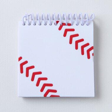 セットがお得 野球ボール柄 リング付きミニメモ帳(ボール部分が可愛いゴム) 単価234円〜【画像2】