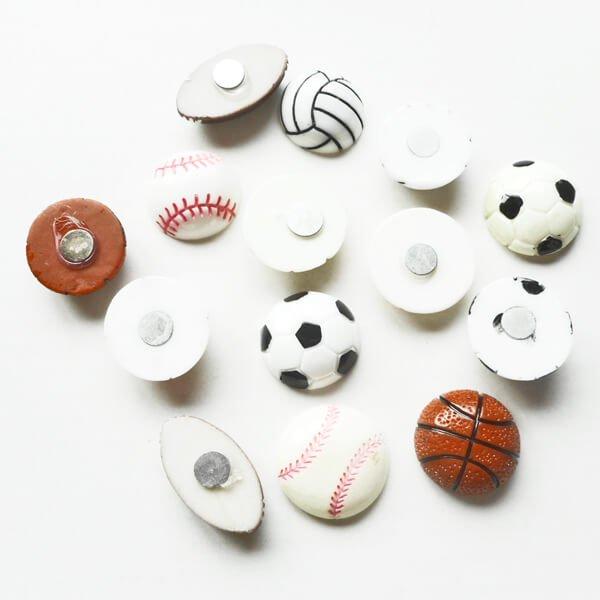 たくさん欲しくなる 野球ボール型のミニマグネット 1個【画像5】