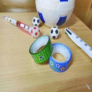 セットでお得 オリジナルマスキングビニールテープ(ミニ) サッカー柄 単価122円〜【画像3】